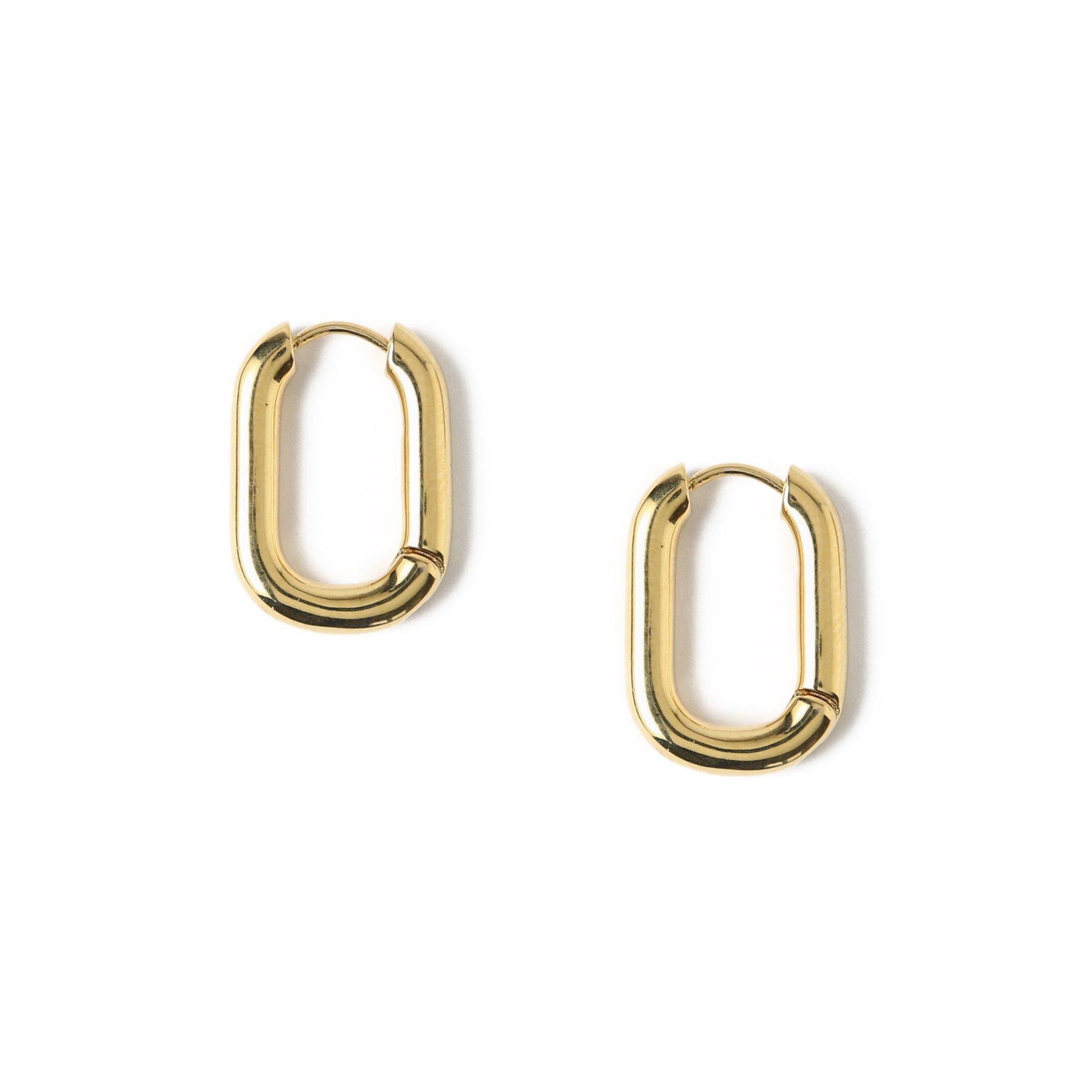 Chunky Oval Gold Hoop