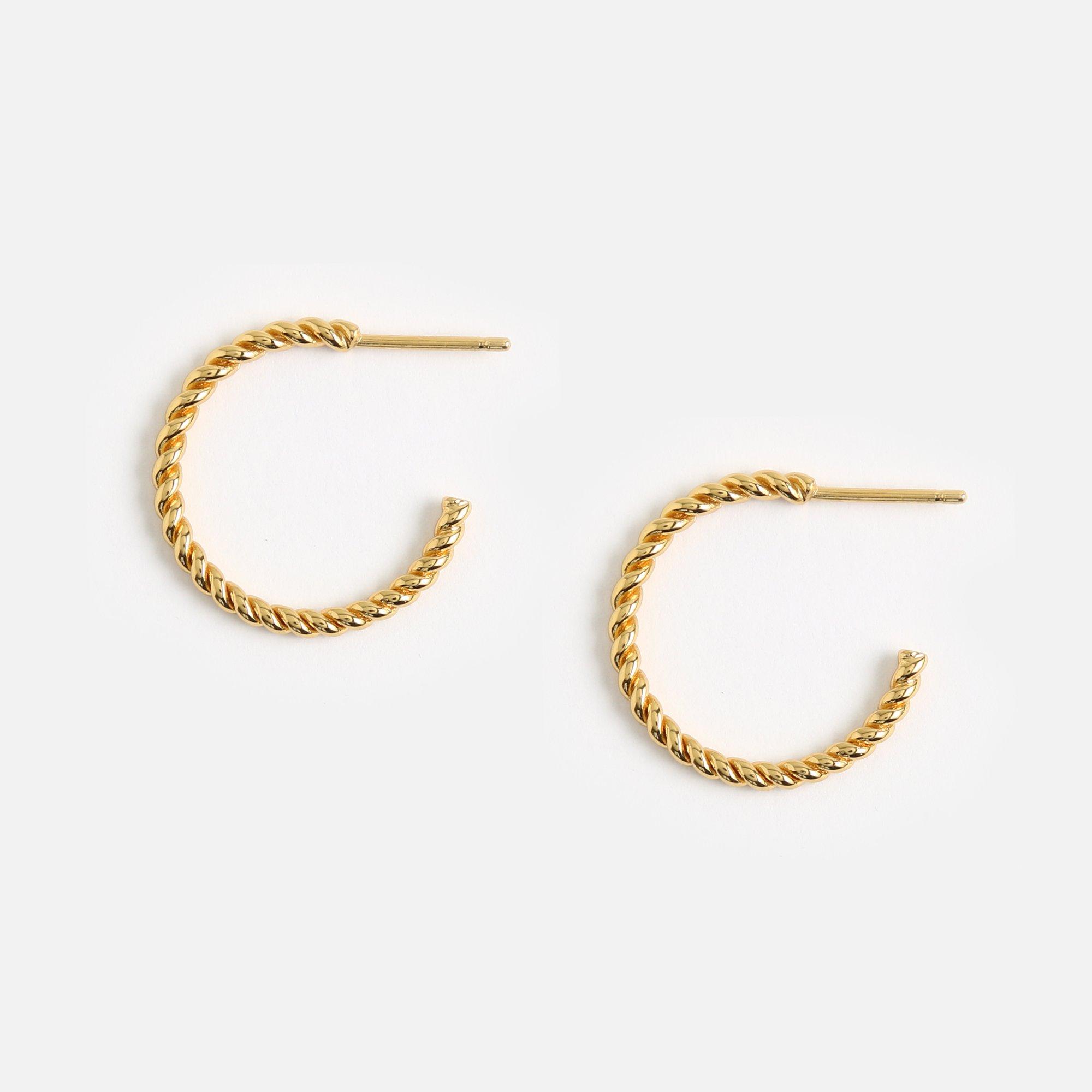 Rope Twist Small Hoop Earrings