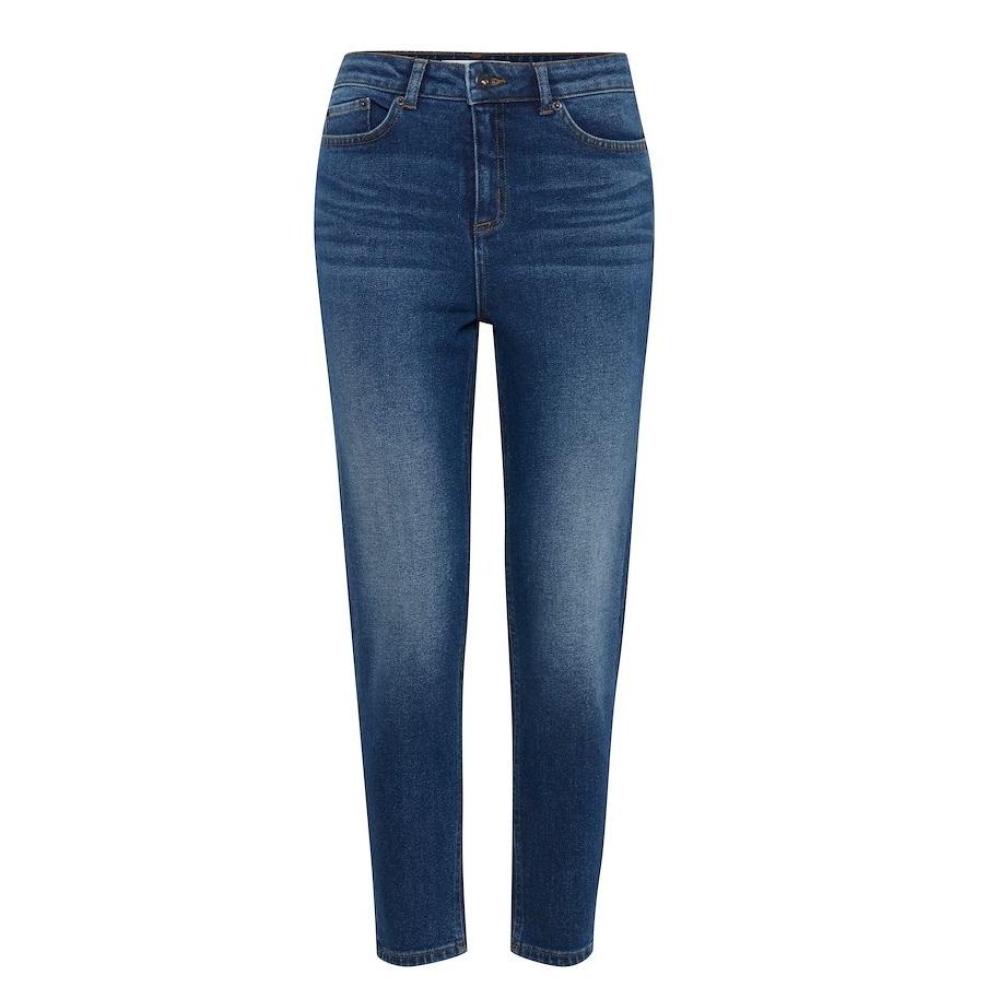 Luva regular cropped jeans dark blue