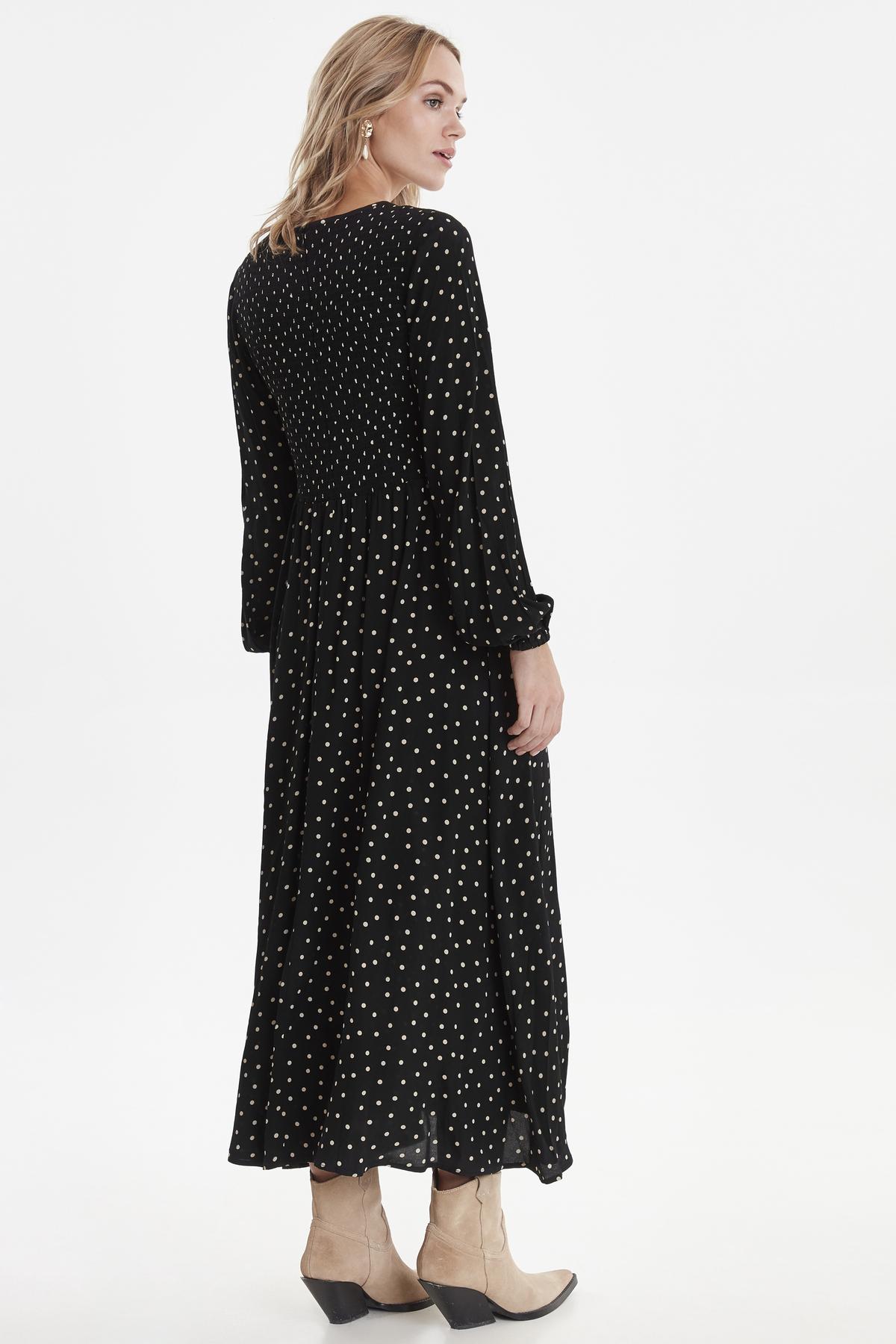 Fatima Black Smock Dress