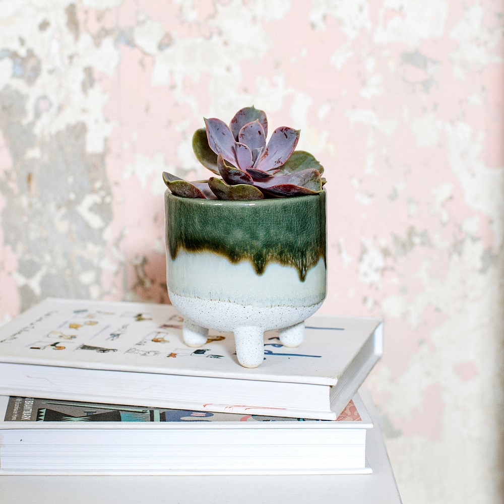 Small Mojava glaze planter
