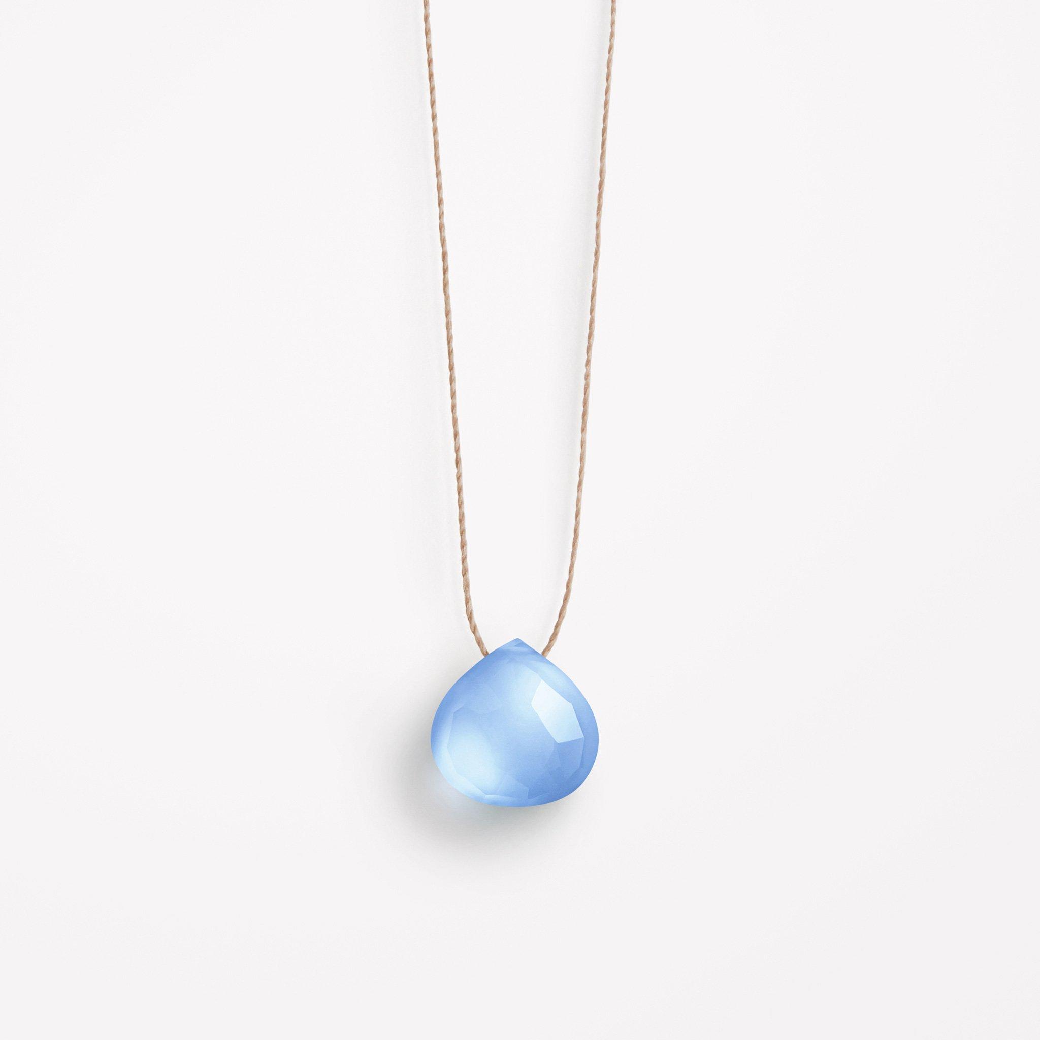 Cornflower Blue Chalcedony Necklace