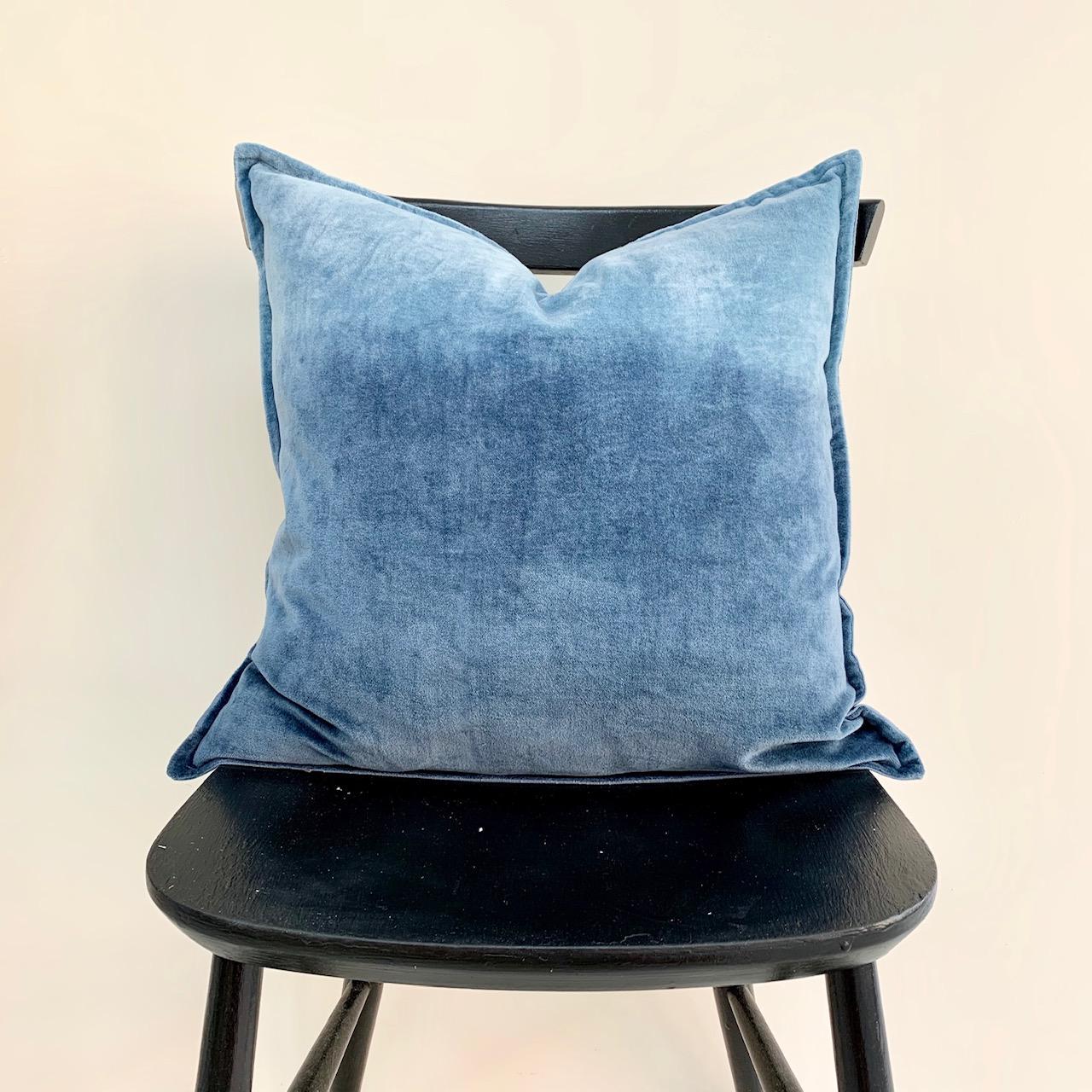 Velvet ombré cushion  denim