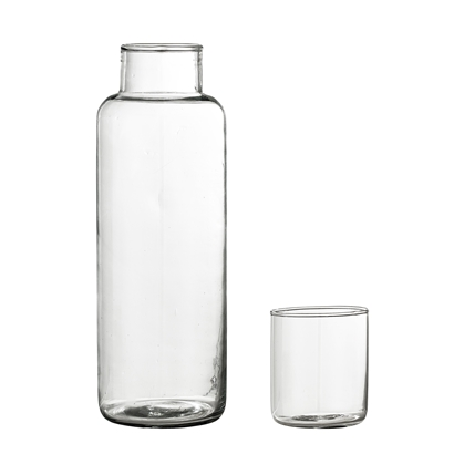 Clear Decanter & Glass