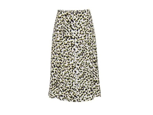 Zemira Leopard Print Skirt