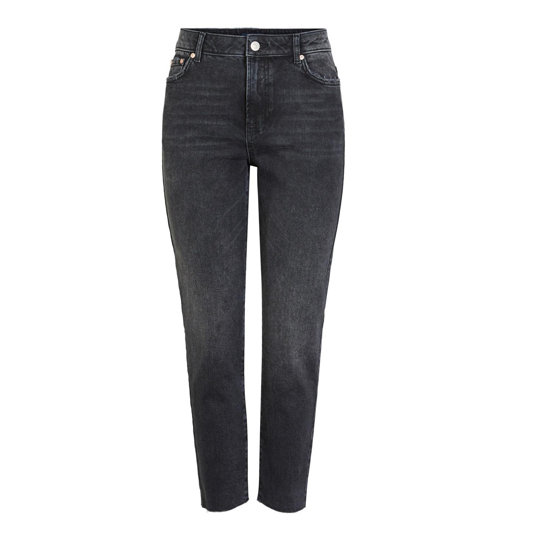 Nima straight high waist washed black jean