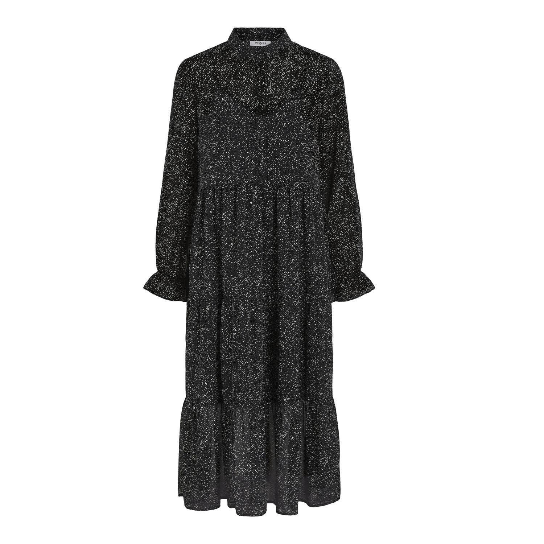 SALE Rya Midi Smock Dress Black was £38