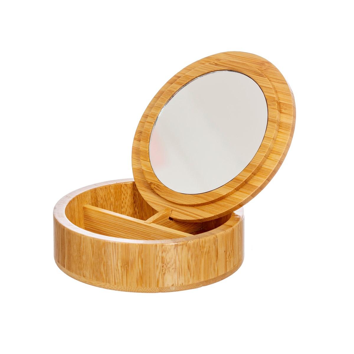 Round Bamboo Jewellery Box