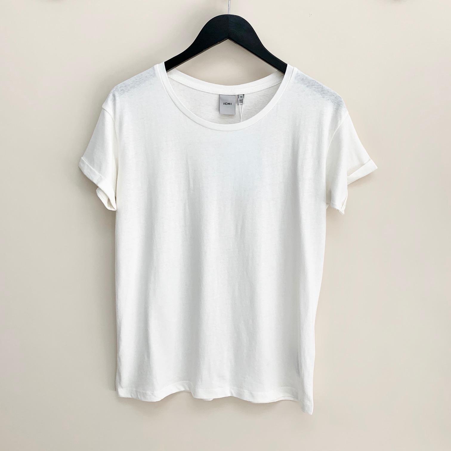 Sitta White Cotton/Linen T-shirt