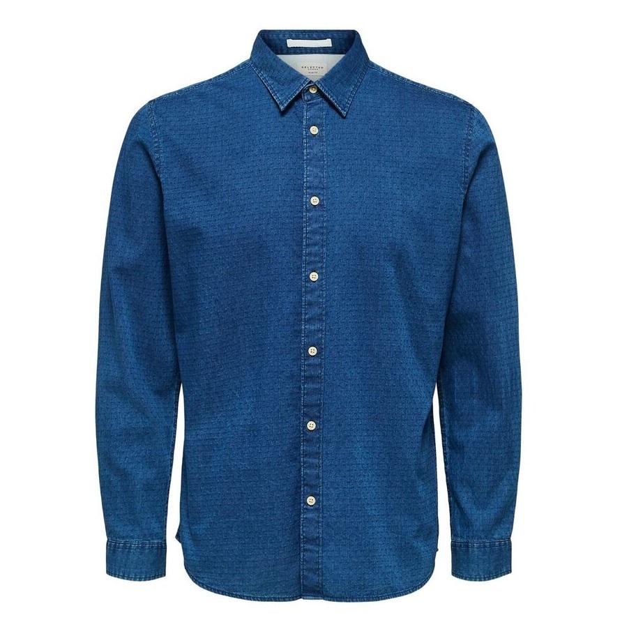 SALE Slim Nolan Denim Blue Shirt