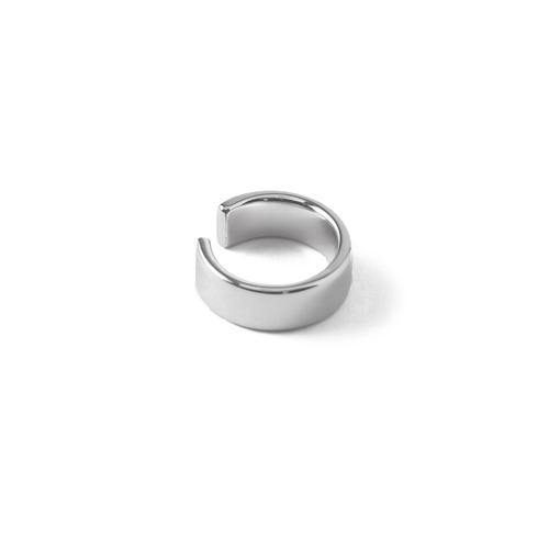 Chunky Plain Silver Ear Cuff