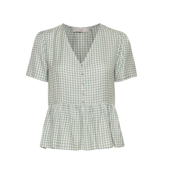 Hallow Mint Gingham Top
