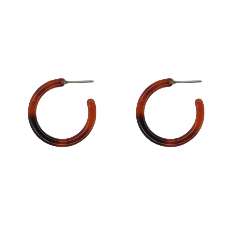 Ava Resin Tiny Hoop Earrings