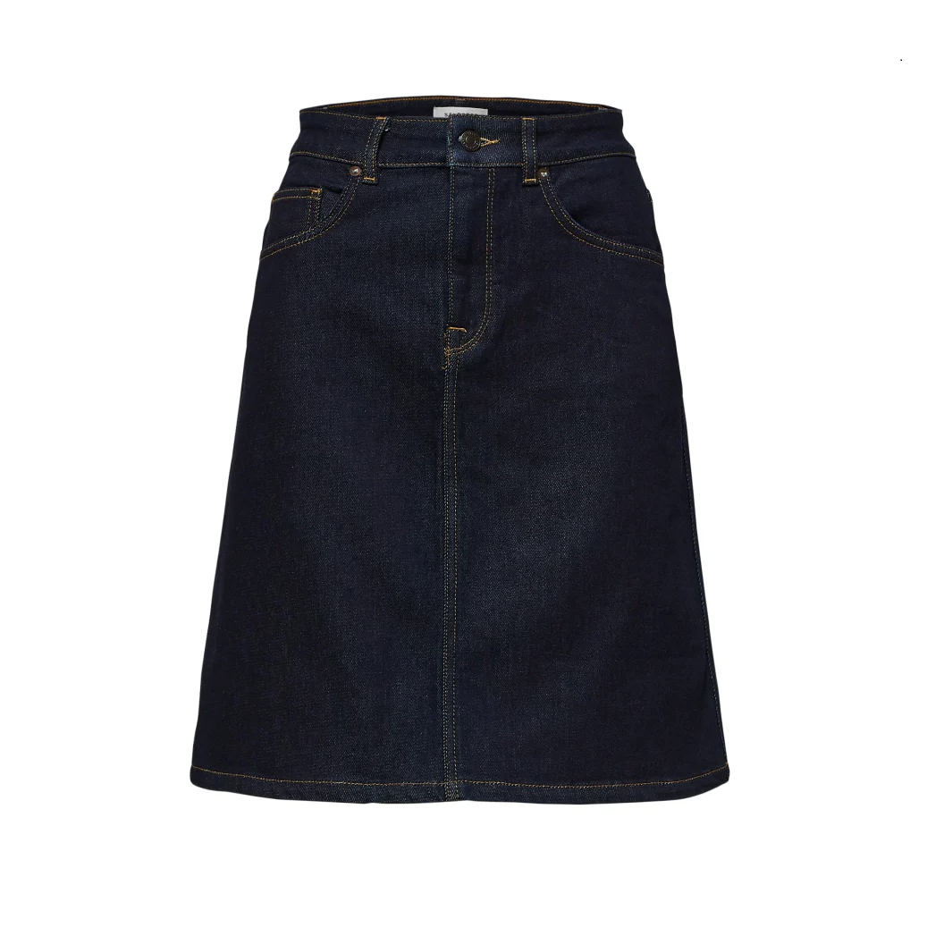 SALE Atelier High Waist Denim Skirt