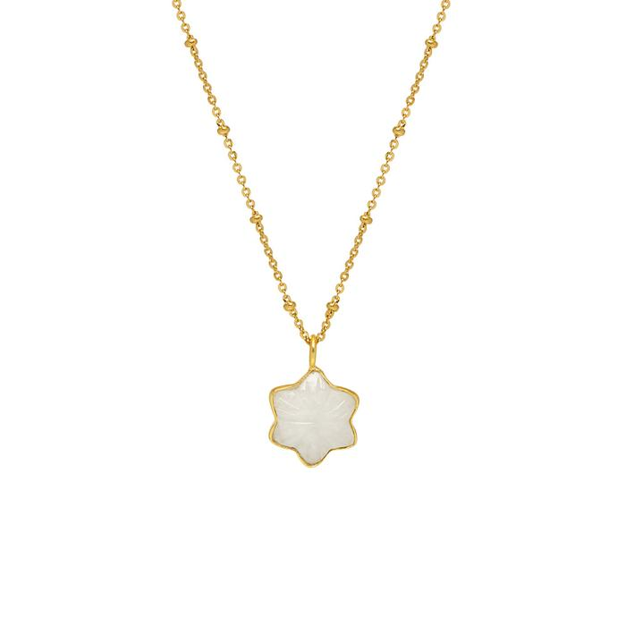 Carved Star Pendant Moonstone