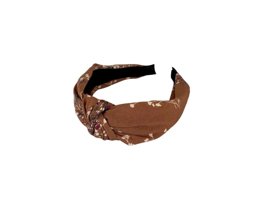 Rust floral headband