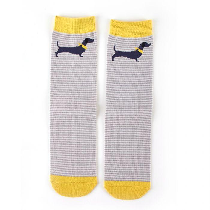 Sausage dog stripe socks