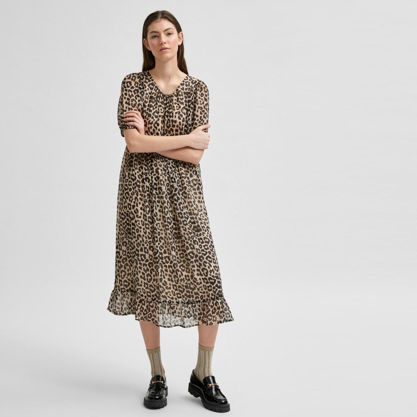 Tilda Leopard Midi Dress