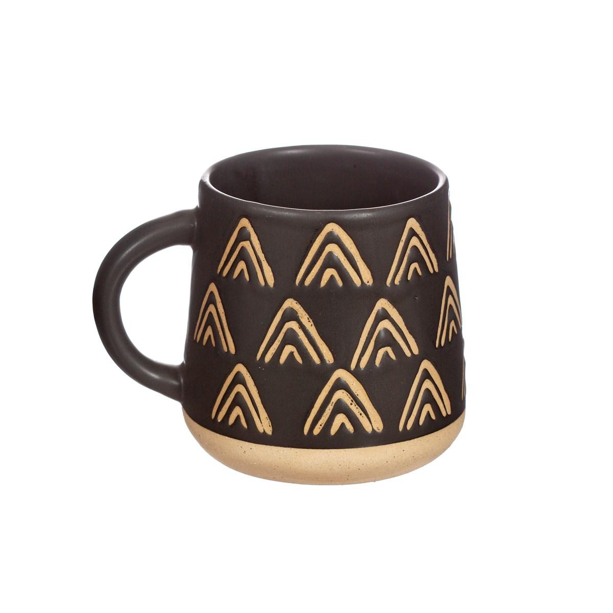 Triangles Black Mug