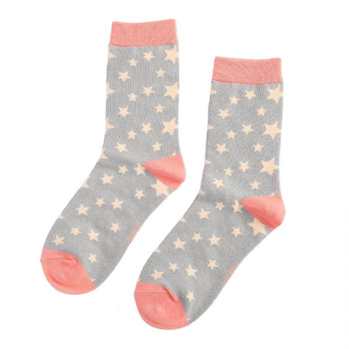Stars Socks Grey