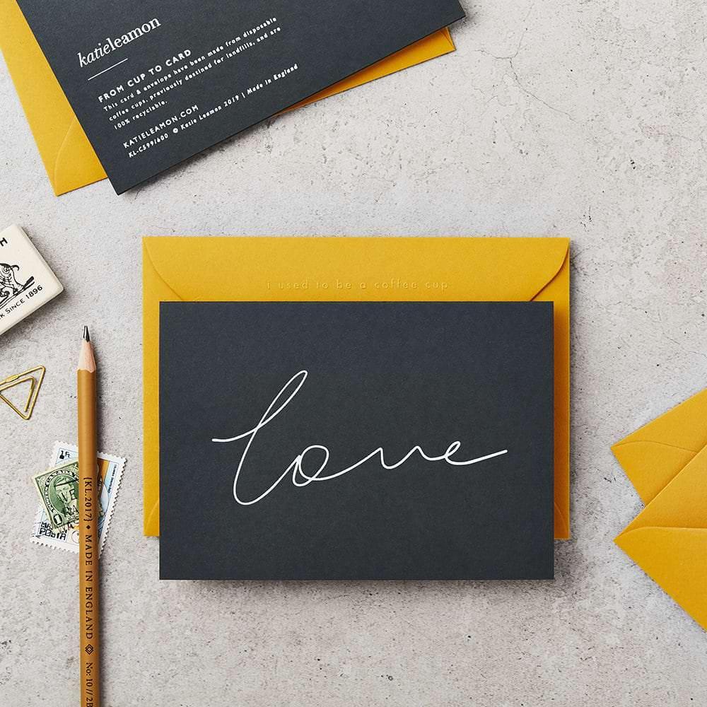 Love Card Navy