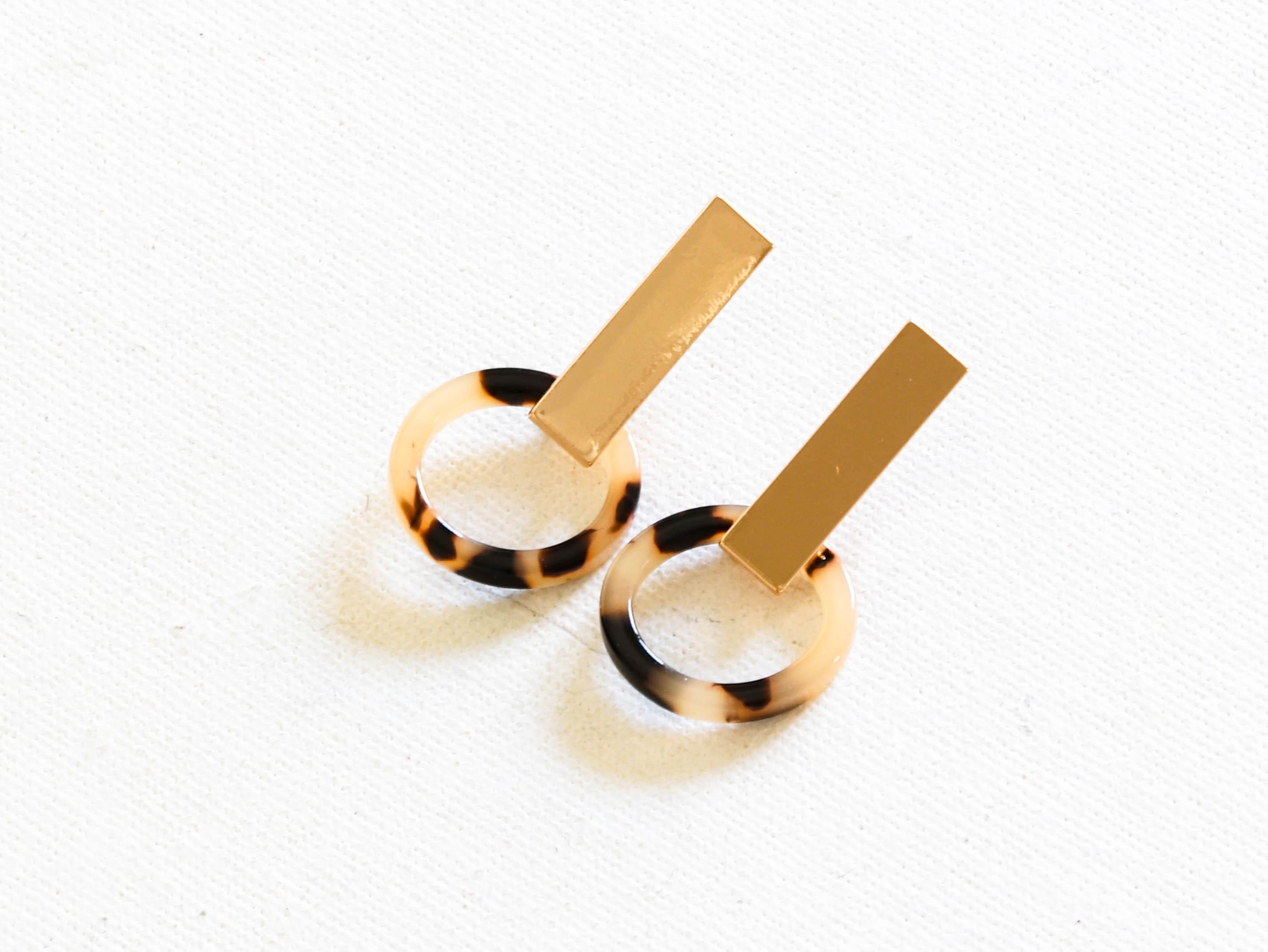 Ernestine Tortoise Resin Earrings