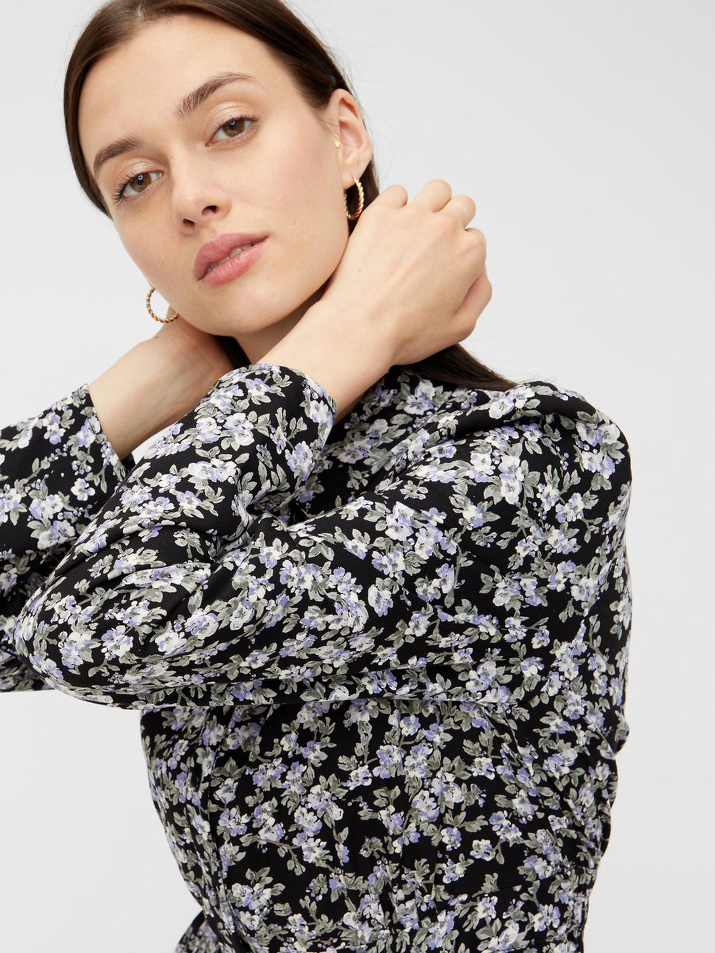 Midi Shirt Dress Kentucky Blue floral