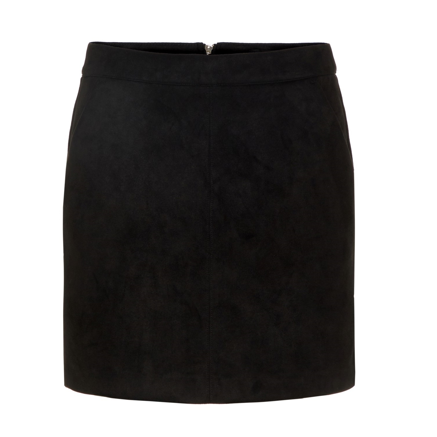 Donnadina Faux Suede Short Skirt