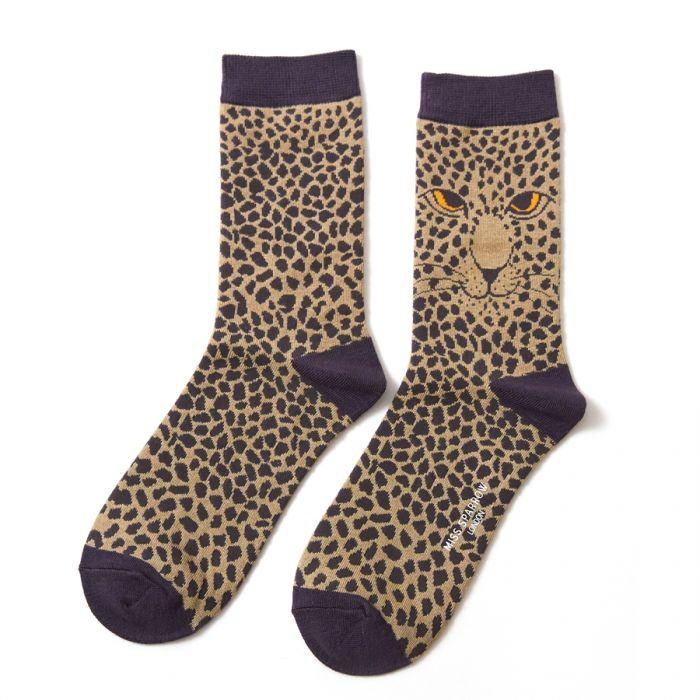 Leopard Socks Olive