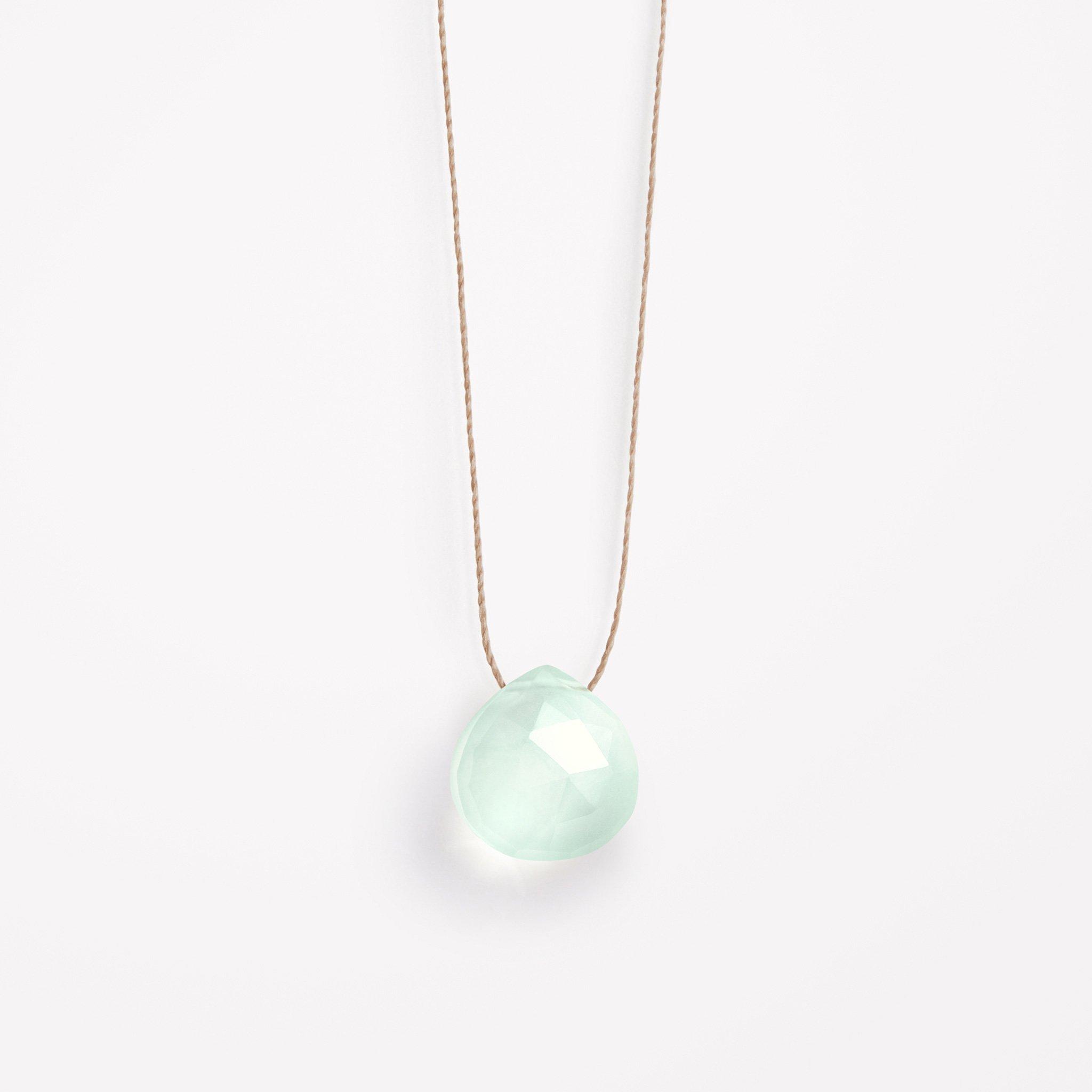 Sea Glass Chalcedony Necklace