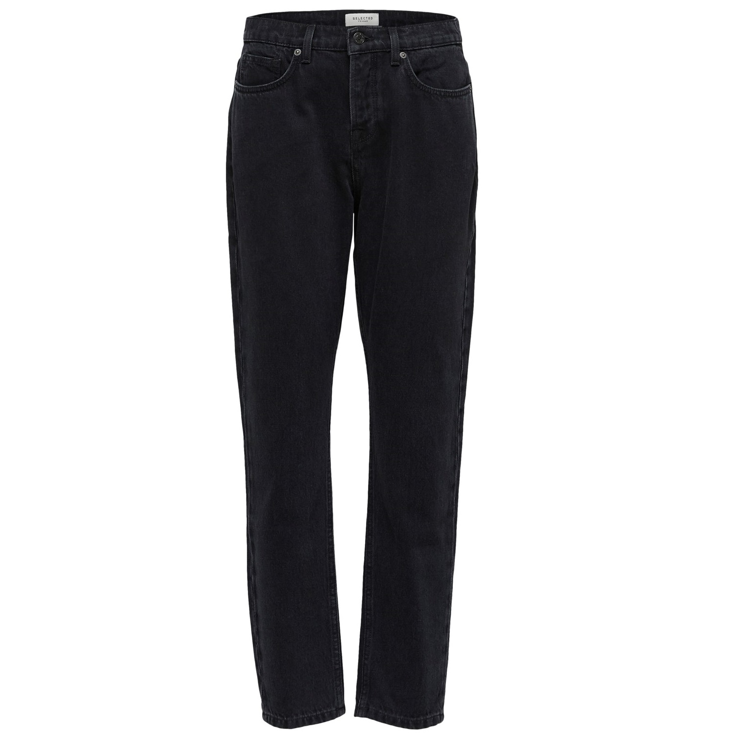 SALE Lola High Waist Mom Jeans — Black 25w