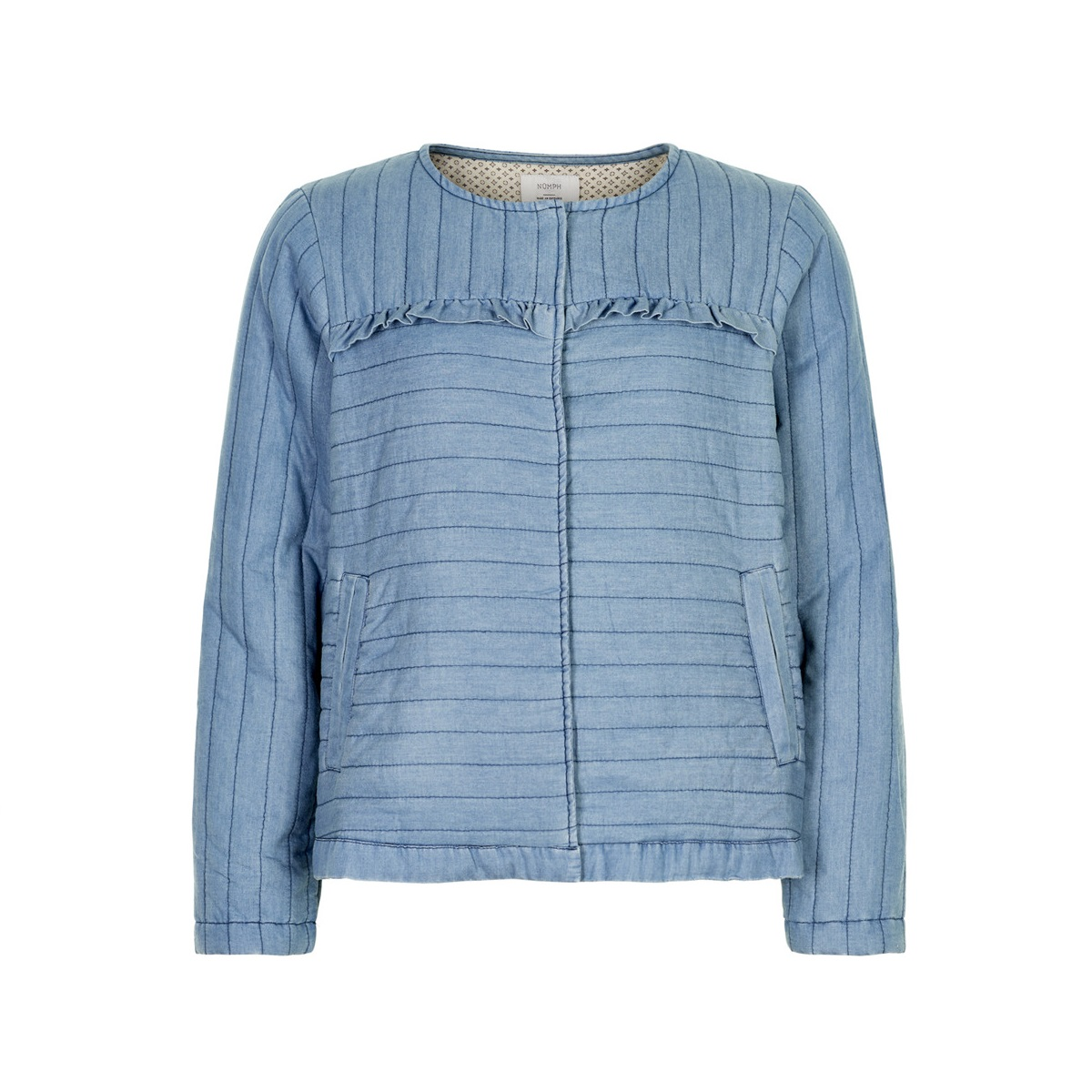 SALE Avelot Blue Quilted Bomber Jacket