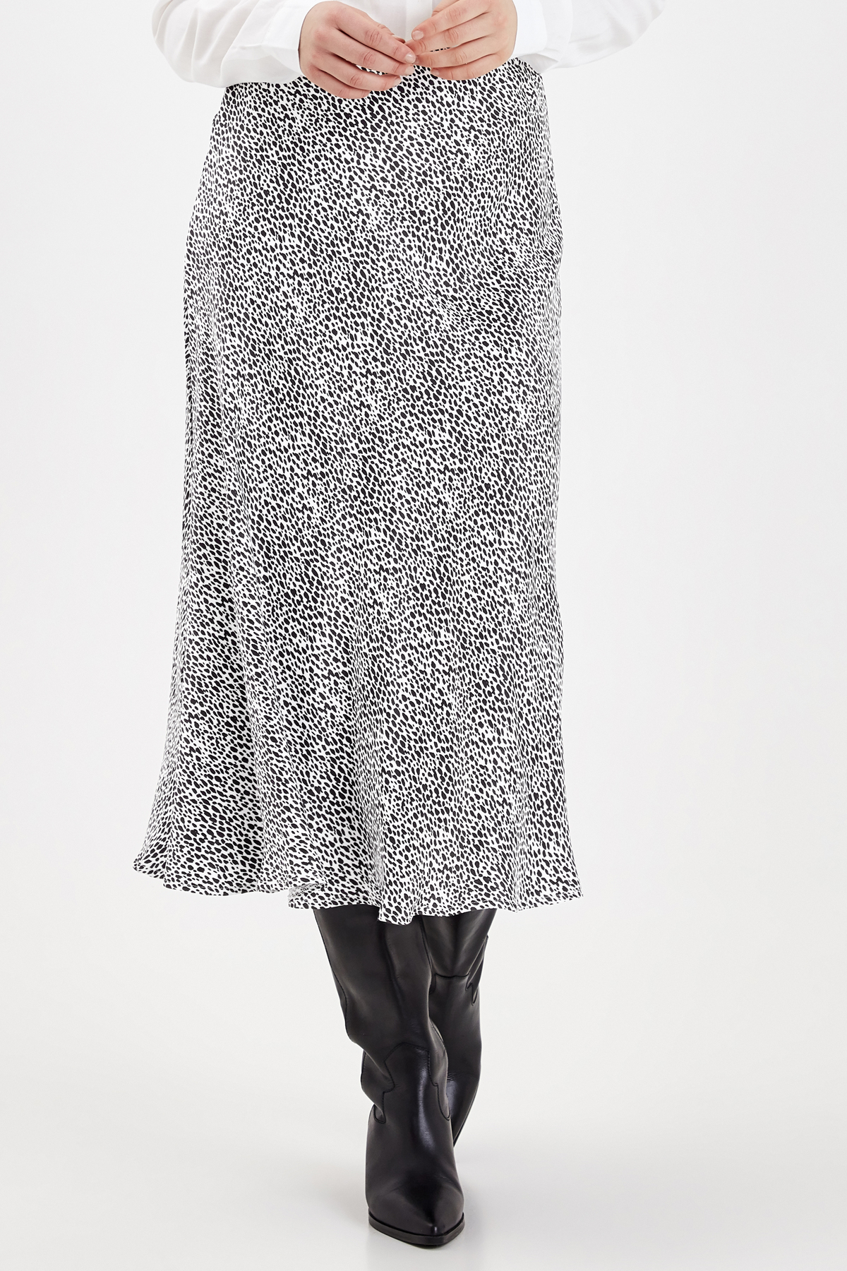 Halima Print Midi Skirt