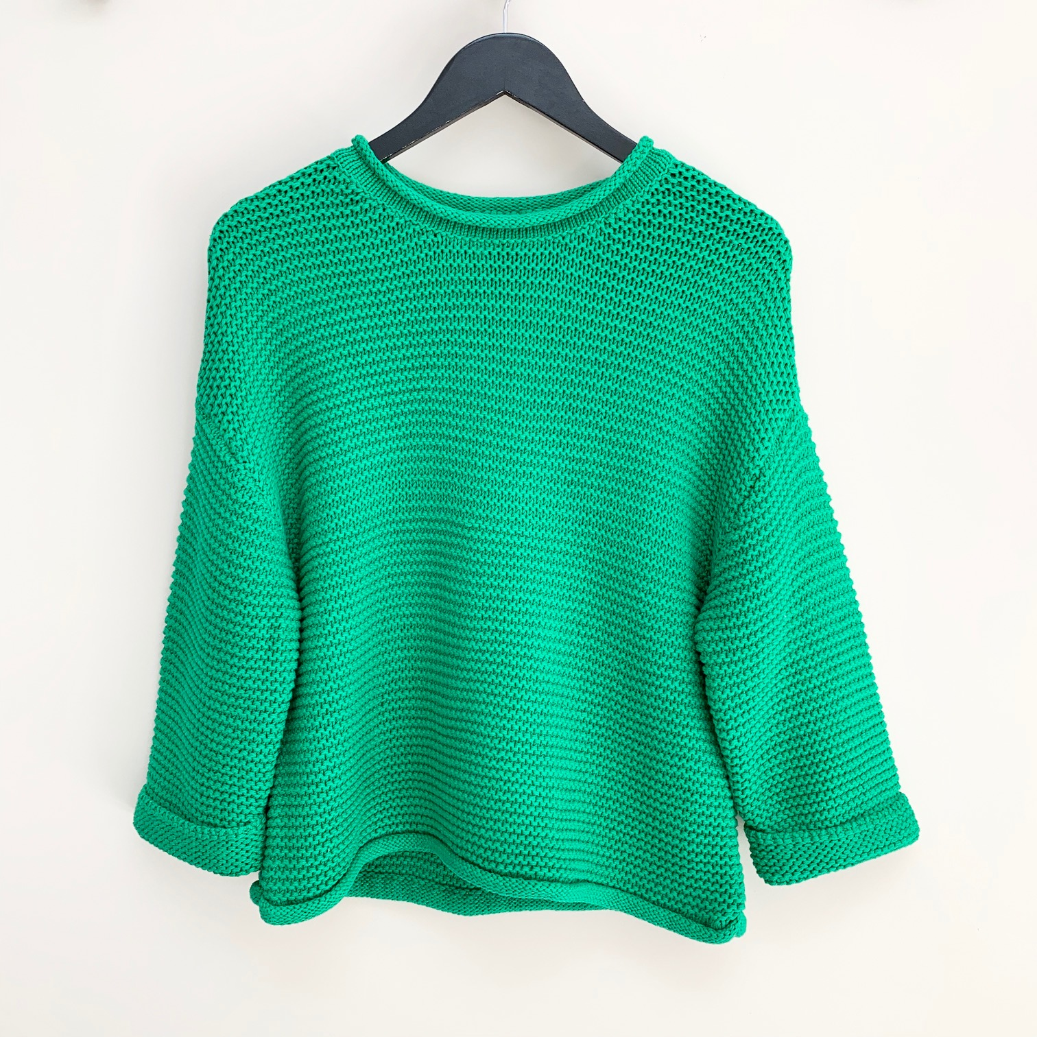 Camille Green Cotton Knit