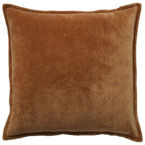 Velvet Soft Rust Cushion