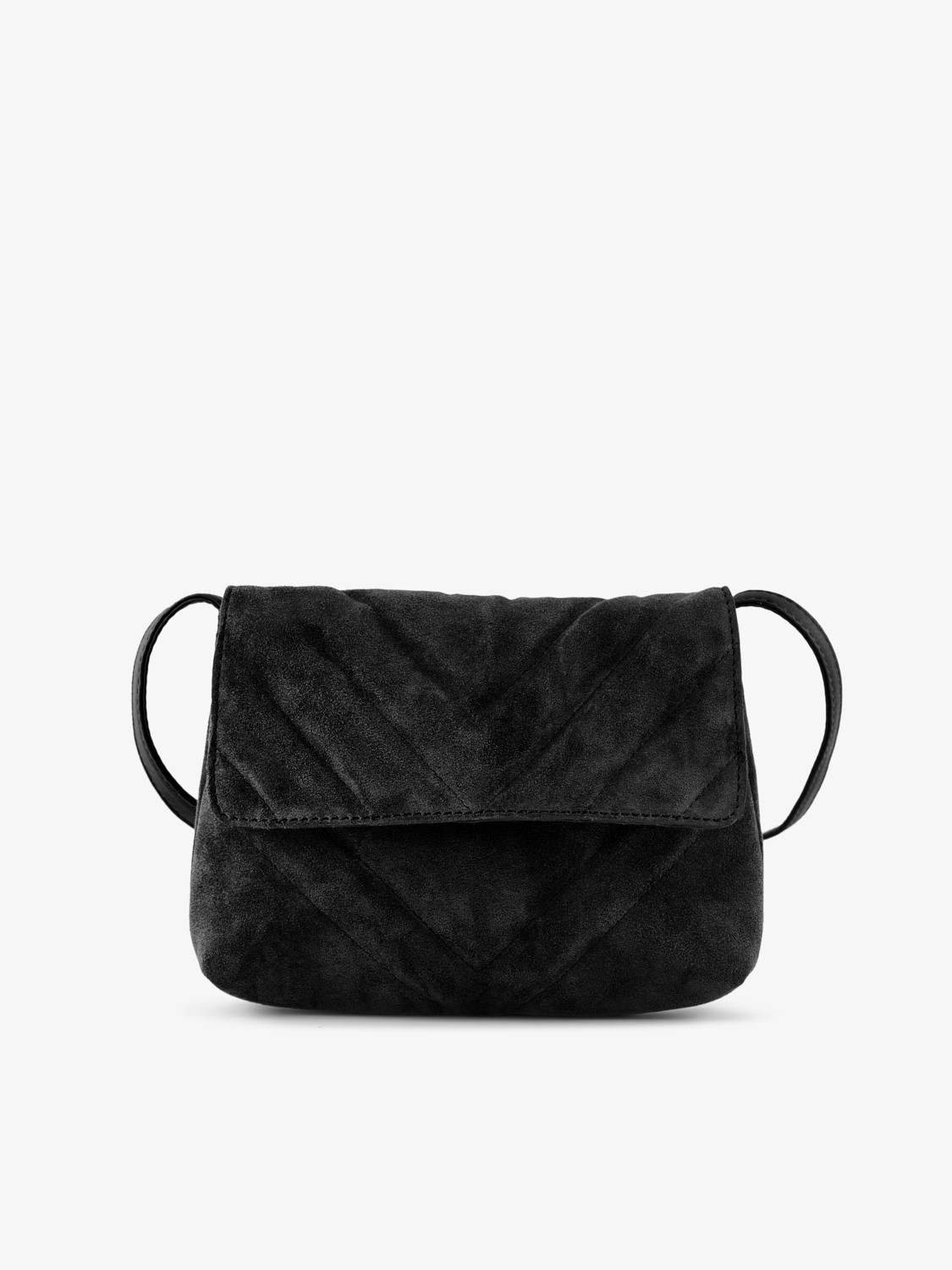 Quilted Suede Mini Crossover Bag