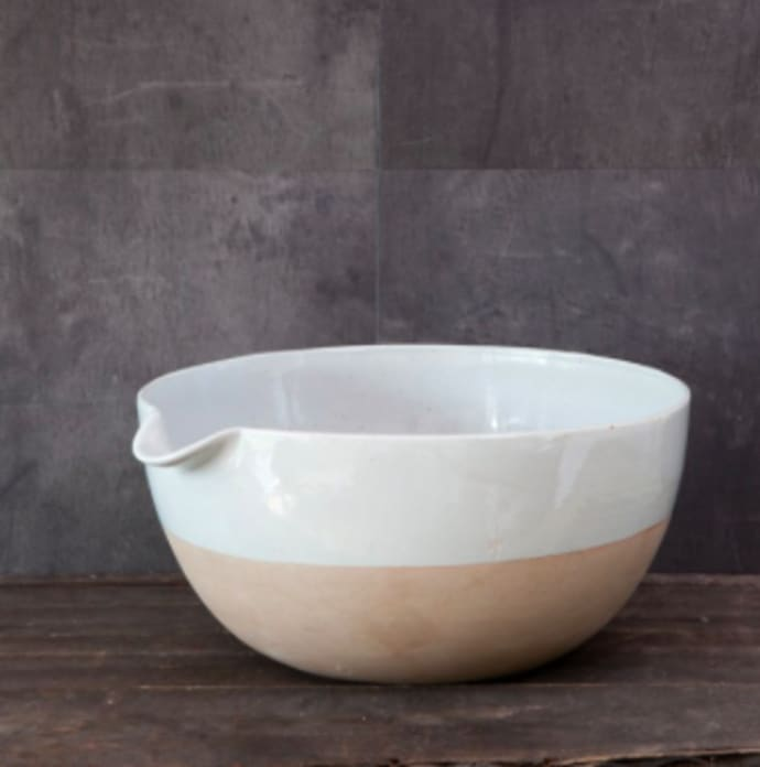 Large Dipped White Pouring Bowl