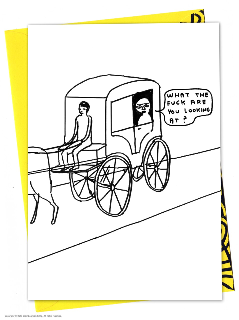 David Shrigley 'What Are You Looking At'  Birthday Card