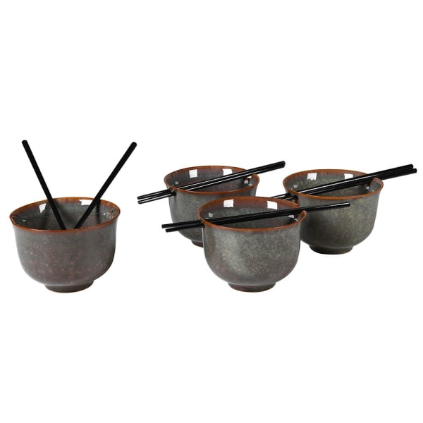 Set of 2 Dakaya Noodle Bowl with Chopstick
