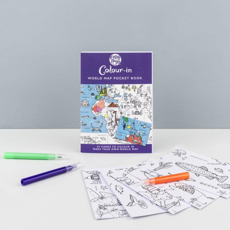 Eggnogg Colouring In Card Books