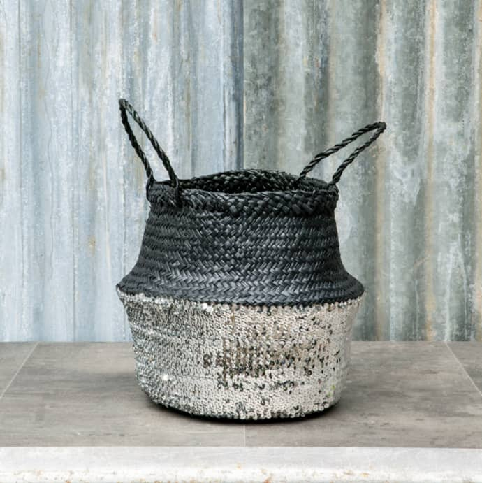 Black and Toulouse Sequin Basket