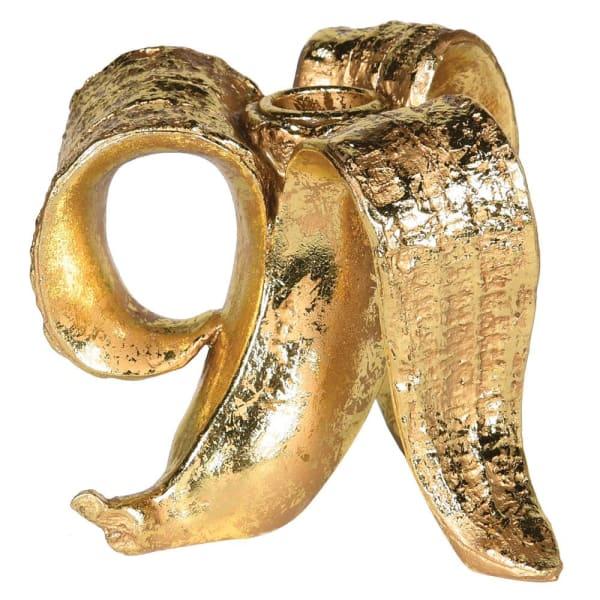 Gold Banana Candle holder