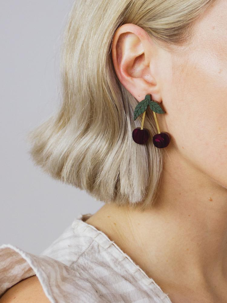 Mini Cherry Earrings