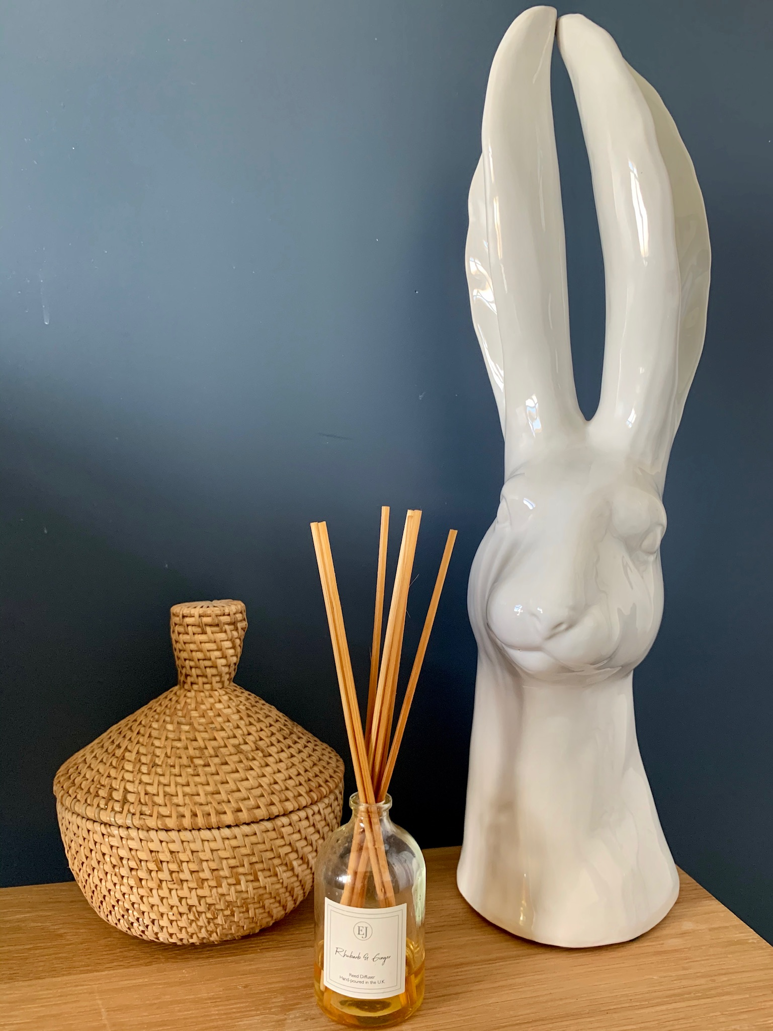 White Glazed Hare Head