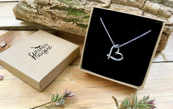 Love Heart Twig Necklace