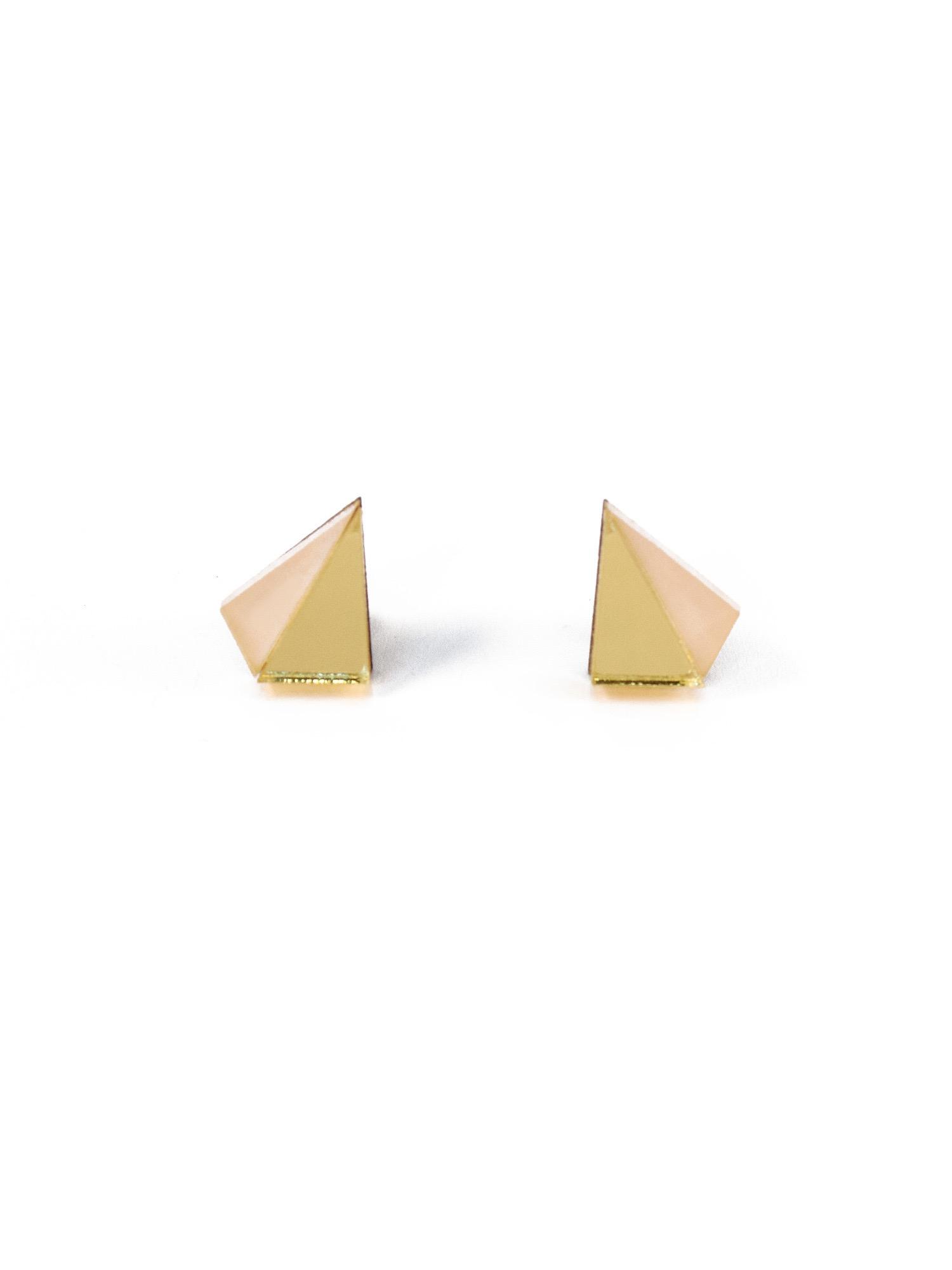 Little Pyramid Stud Earrings