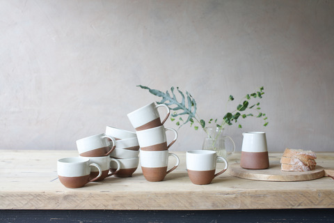 Mali Ribbed Sugar Pot - White