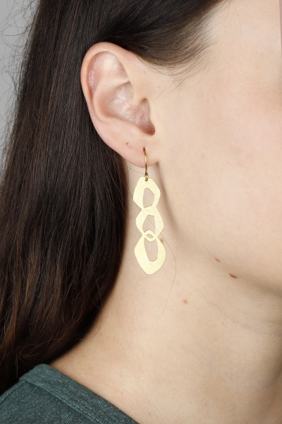 Brass Earring Hanging Shapes