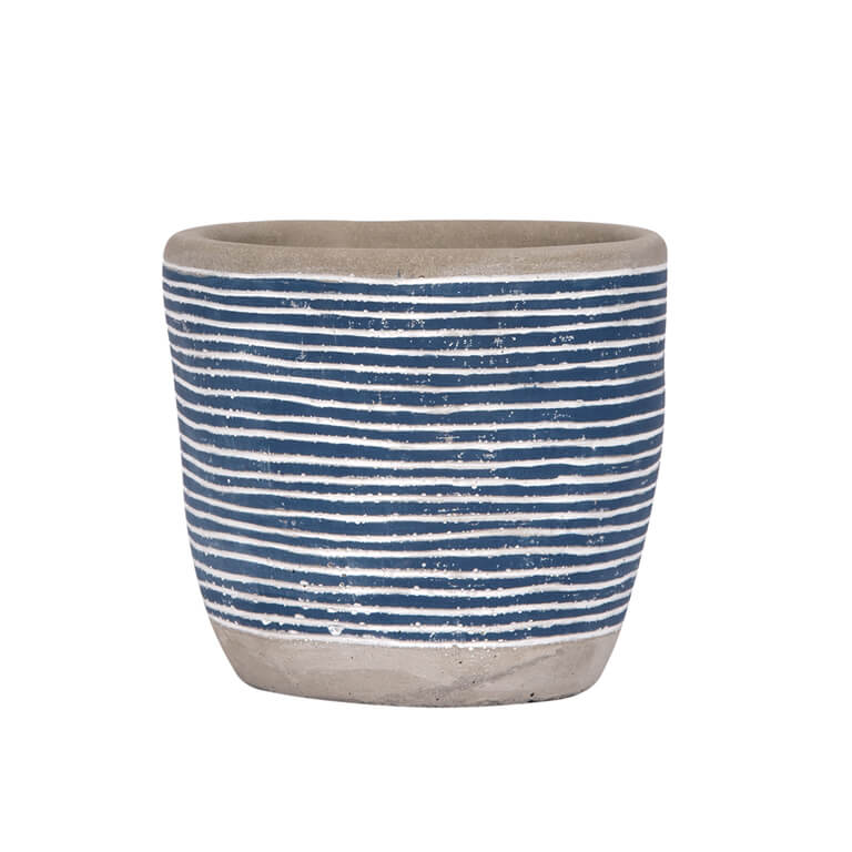 Striped Pot