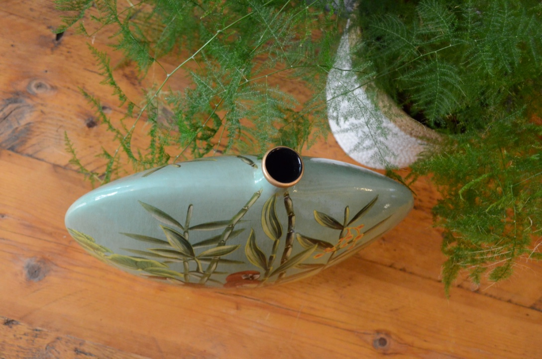 Hand Painted Jungle Vase